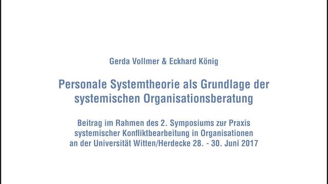 Personale Systemtheorie als Grundlage der systemischen Organisationsberatung