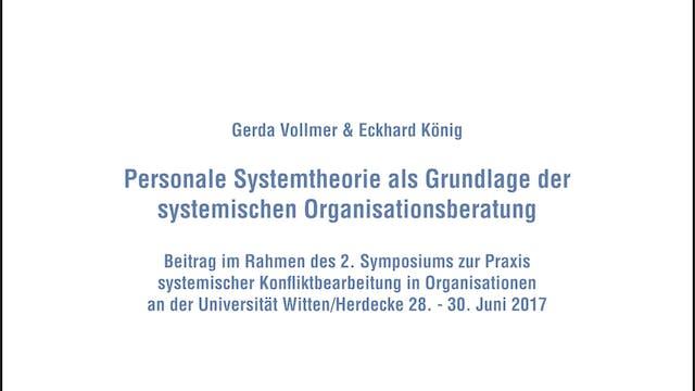 Personale Systemtheorie als Grundlage...