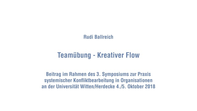 Kreativer Flow