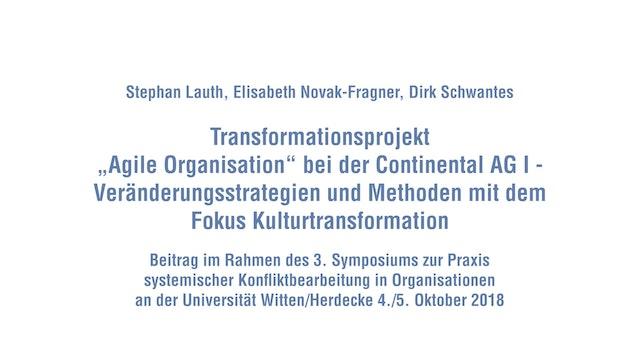 Agile Transformation bei der Continental AG Teil I