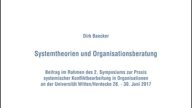 Systemtheorien und Organisationsberatung