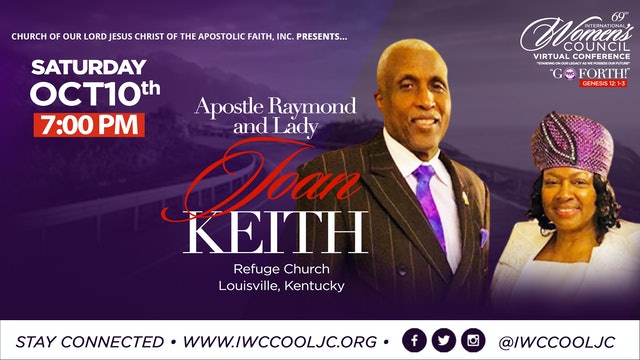 Evening Worship with Lady Joan & Apostle Raymond Keith