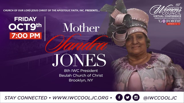 Evening Worship with Mother Sandra Jones