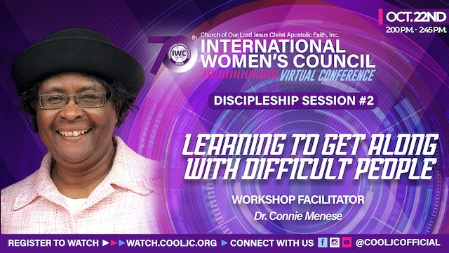 Midday Workshop with Dr. Connie Menese