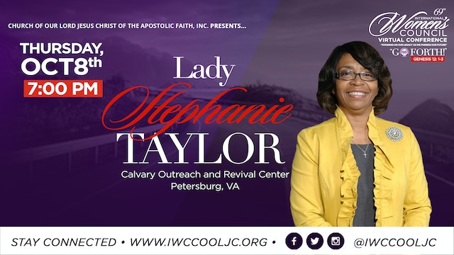Evening Worship with Lady Stephanie Taylor