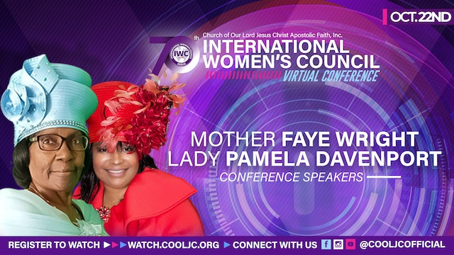 Join Mother Faye Wright and Mother Pamela Davenport for Evening worship