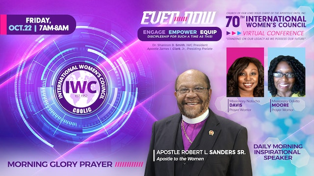 Morning Glory Prayer with Missionary Natacha Davis and Missionary Odetta Moore