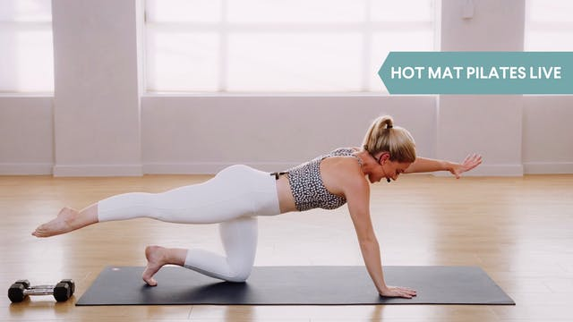 LIVE STREAM - Hot Mat Pilates with Maddi