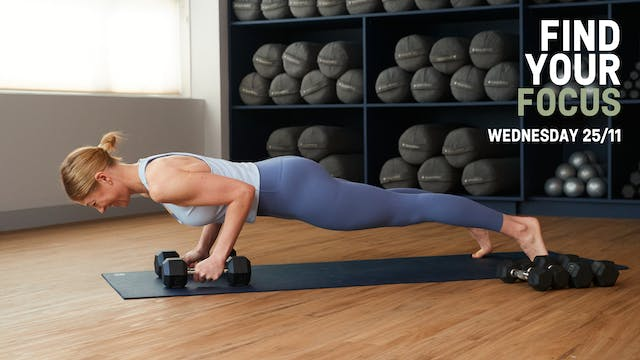 Strength Focus: Back, Chest and Tri's...