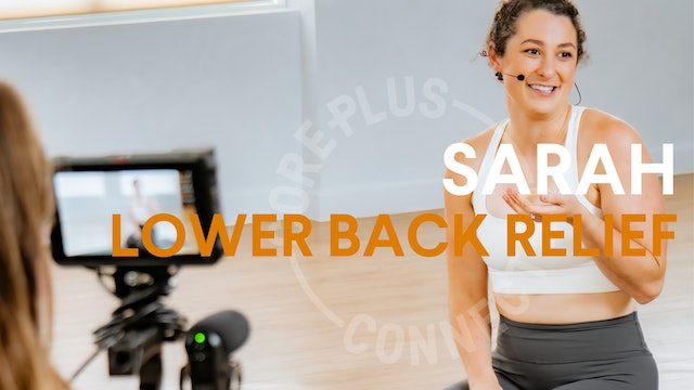 LIVE STREAM - Lower Back Relief with Sarah (30 mins)