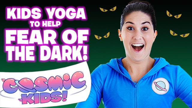 Kids Yoga to help FEAR OF THE DARK! 👀🦇🖤