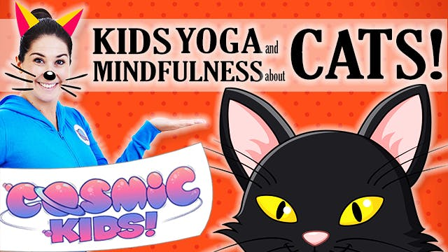 Kids Yoga and Mindfulness about CATS! 🐈😺