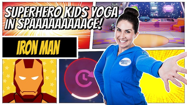 Iron Man | Superhero Kids Yoga in Space (app exclusive)