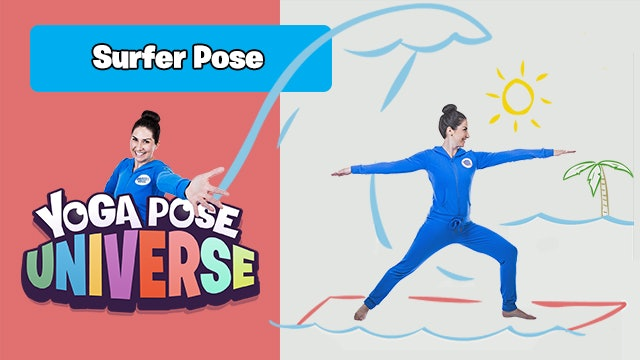 Surfer Pose | The Cosmic Kids Yoga Pose Universe!