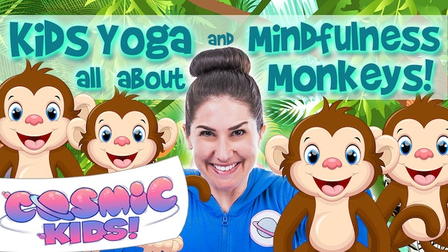 Kids Yoga and Mindfulness all about MONKEYS! 🐒🐵🐒🐵