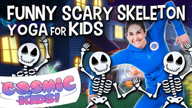 Funny Scary Skeleton Yoga for Kids 💀😂