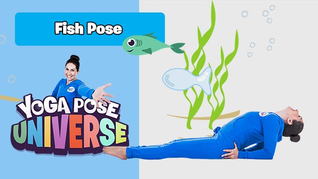 Fish Pose   Yoga Pose Universe