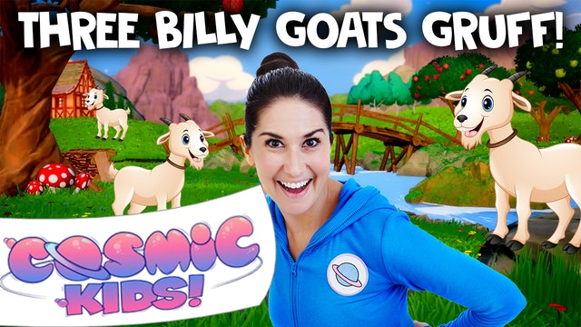Three Billy Goats Gruff (app exclusive) | A Cosmic Kids Yoga Adventure
