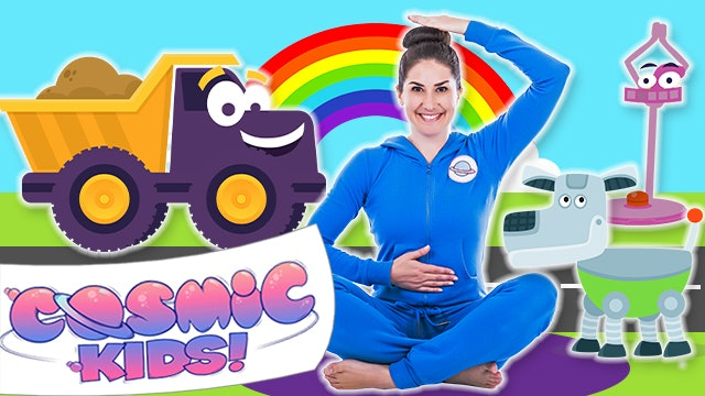 Toys, Trucks and Robot Yoga for Kids! 🤖(52 mins)