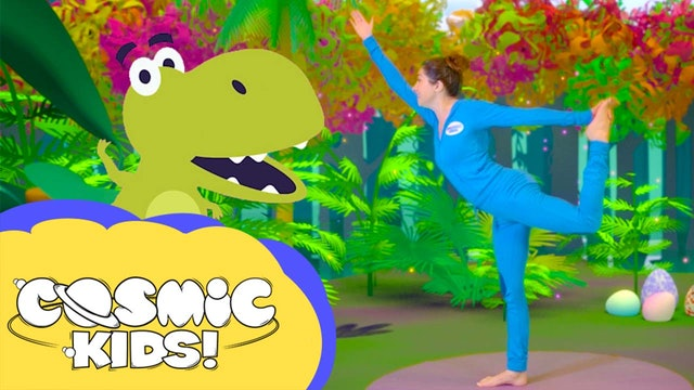 Saturday Morning Yoga | Tiny the T-Rex