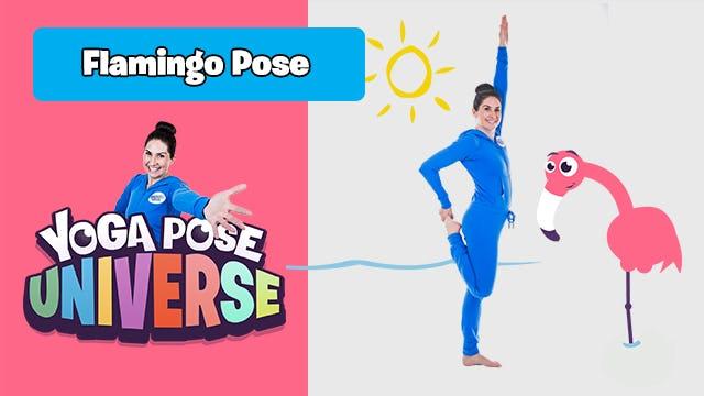 Flamingo Pose   Yoga Pose Universe