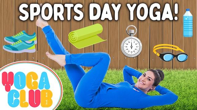 YOGA CLUB! (Week 56) Sports Day Kids Yoga! 🎾