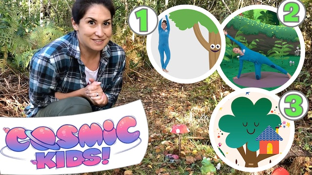 Jaime's Yoga Mix | Outside in the Woods! | Yoga and Mindfulness for kids
