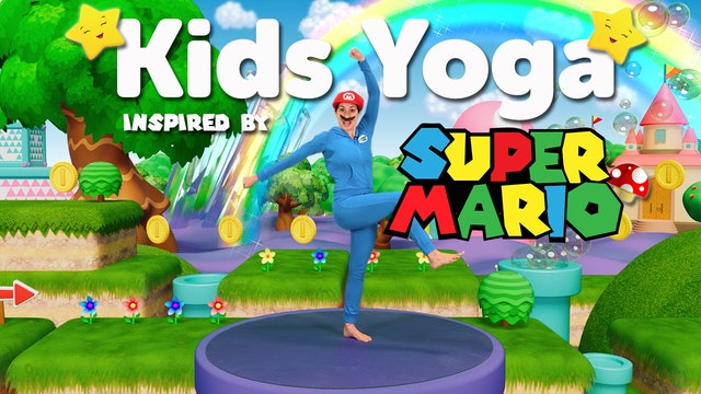 Super Mario (app exclusive) | A Cosmic Kids Yoga Adventure! 🍄🍄