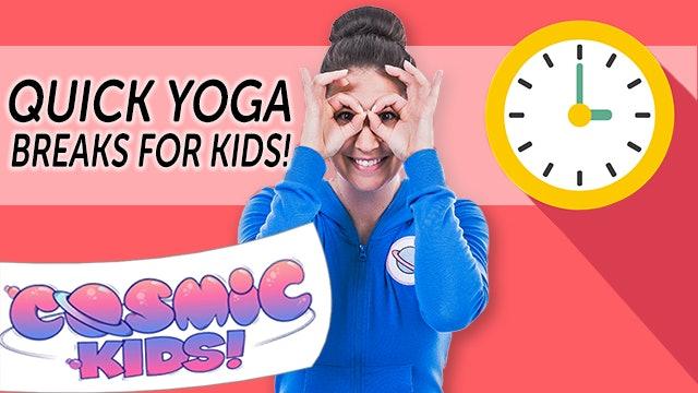 Quick Yoga Breaks for Kids (24 mins)