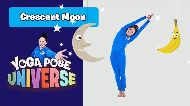 Crescent Moon   Yoga Pose Universe