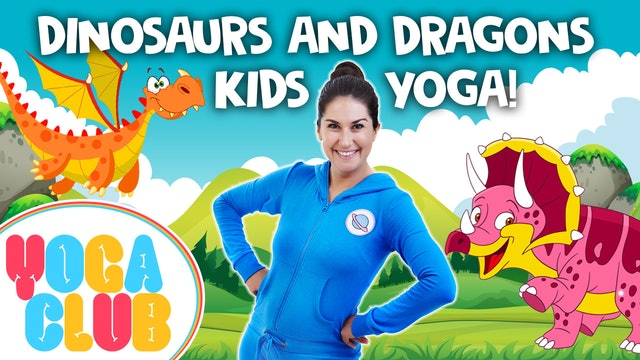 YOGA CLUB! Week 15 - Dinosaurs and Dragons! 🦖