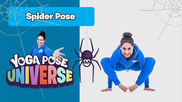 Spider Pose | The Cosmic Kids Yoga Pose Universe