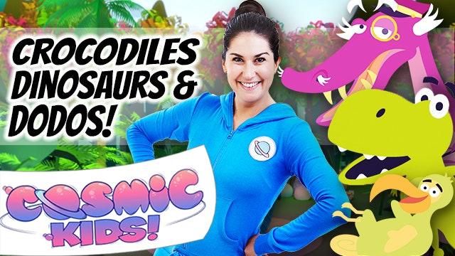 Yoga for Kids | Crocodiles, Dinosaurs and Dodos 🐊🦖🐥(60mins)