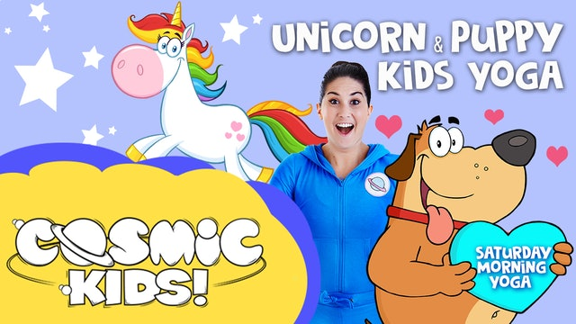 Unicorn and Puppy Yoga! | Saturday Morning Yoga