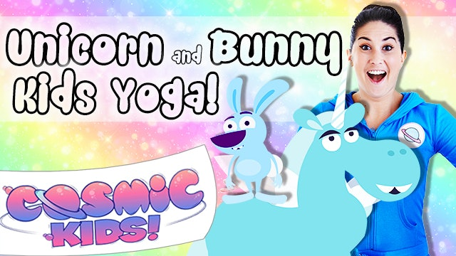 Unicorn and Bunny themed Kids Yoga! 🦄🐰🐇🌈✨