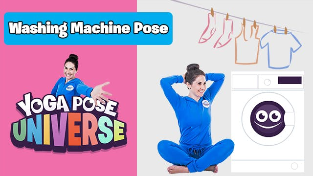 Washing Machine Pose | Yoga Pose Univ...