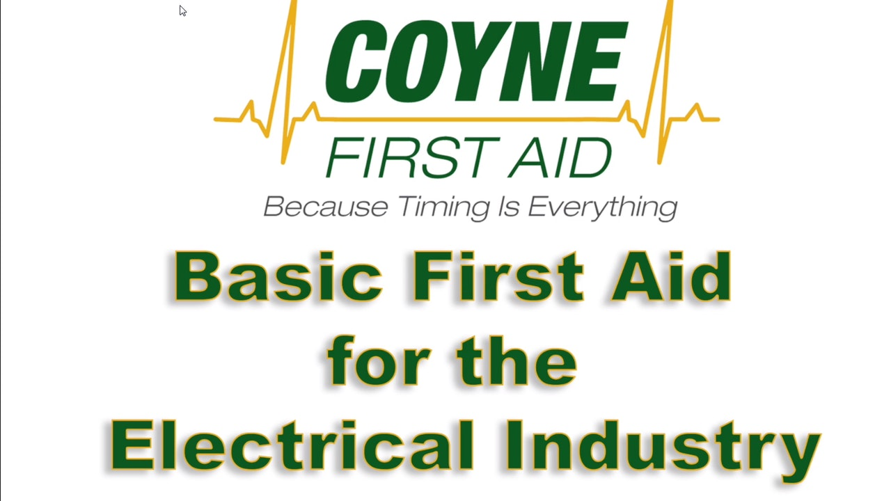 First Aid for the Electrical Industry