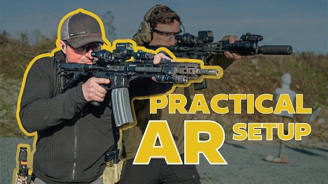 Army Ranger shows his rifle setups
