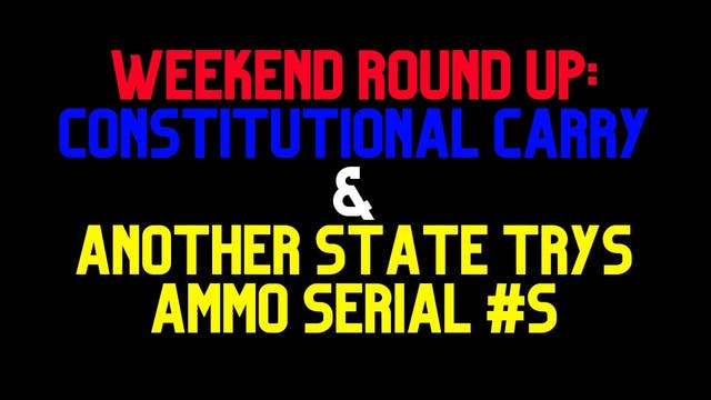Weekend Round-Up  Constitutional Carr...