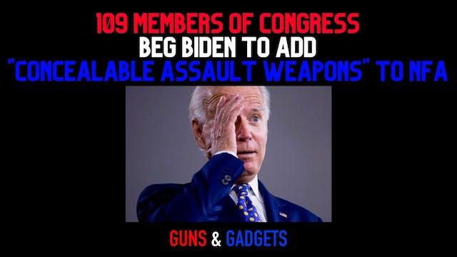 109 Members of Congress Beg Biden To ...