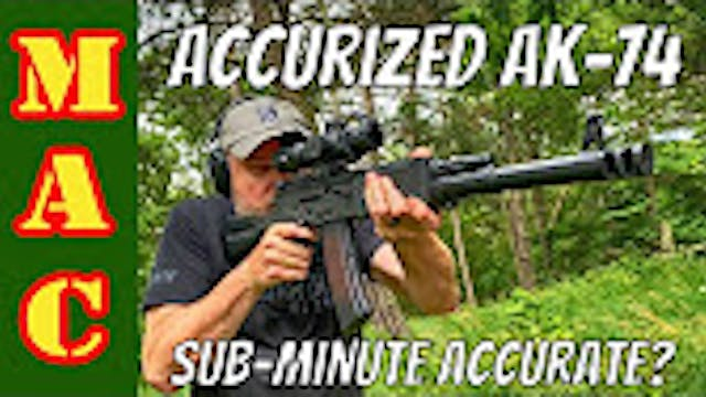 Prototype Accurized AK74  Is it SubMi...
