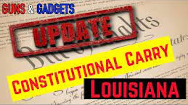 Louisiana Governor Threatens To VETO Constitutional Carry Bill