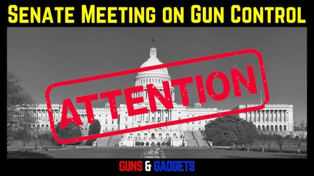 US Senate Meeting NOW On Gun Control!!