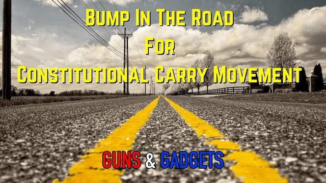 Bump In The Road For Constitutional C...
