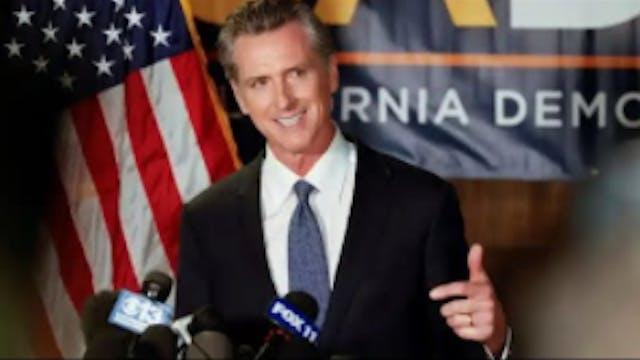 California Governor Gavin Newsom Defe...