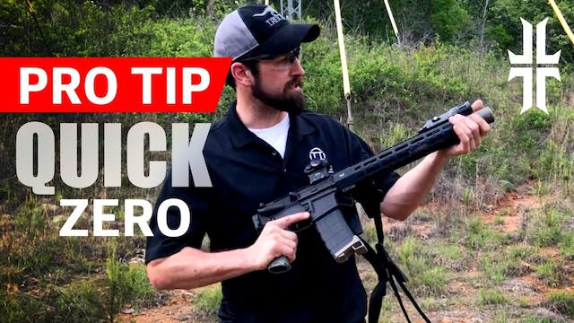 Pro Tip | Quickly Zeroing an AR-15