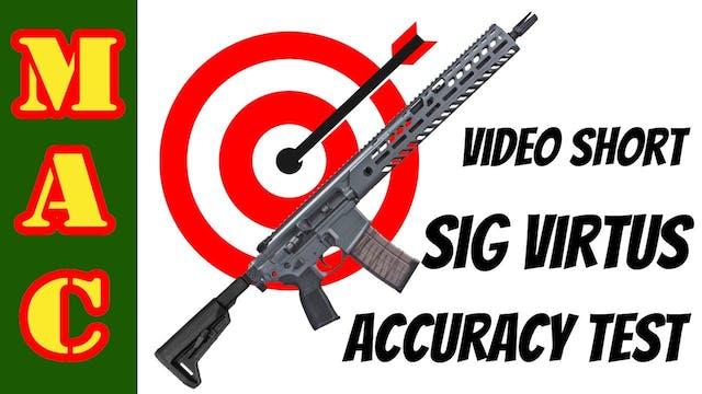 Sig Virtus Accuracy Test - Video Short