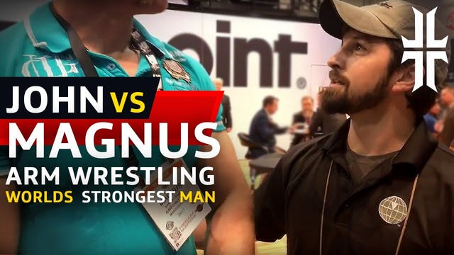 Arm Wrestling the World's Strongest Man