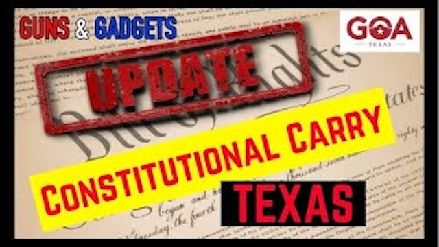 URGENT Texas Constitutional Carry Needs Your Help Now