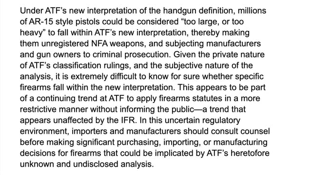 The ATF Had Redefined What A Pistol I...